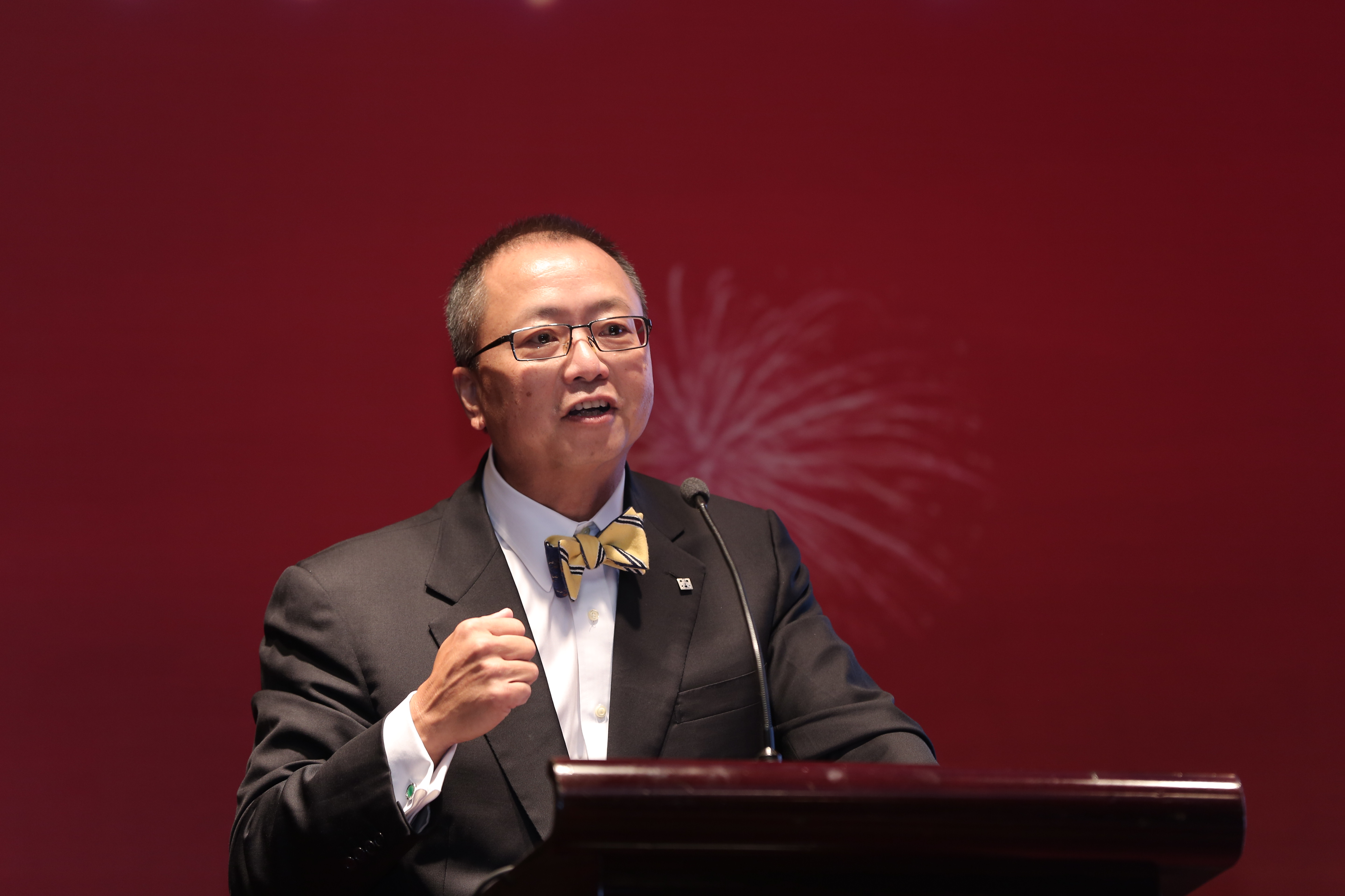C-100 chairman Clarence Kwan gives keynote remarks on Chinese investment in the U.S.