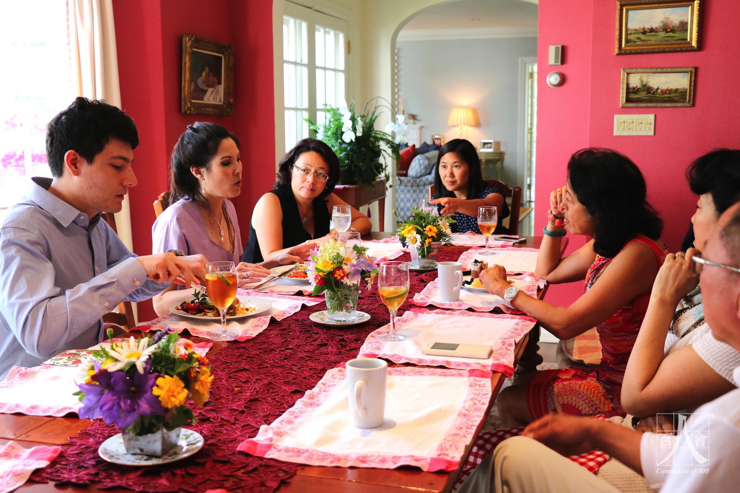 IMG_0584 Dinner Table Sheryl WuDunn