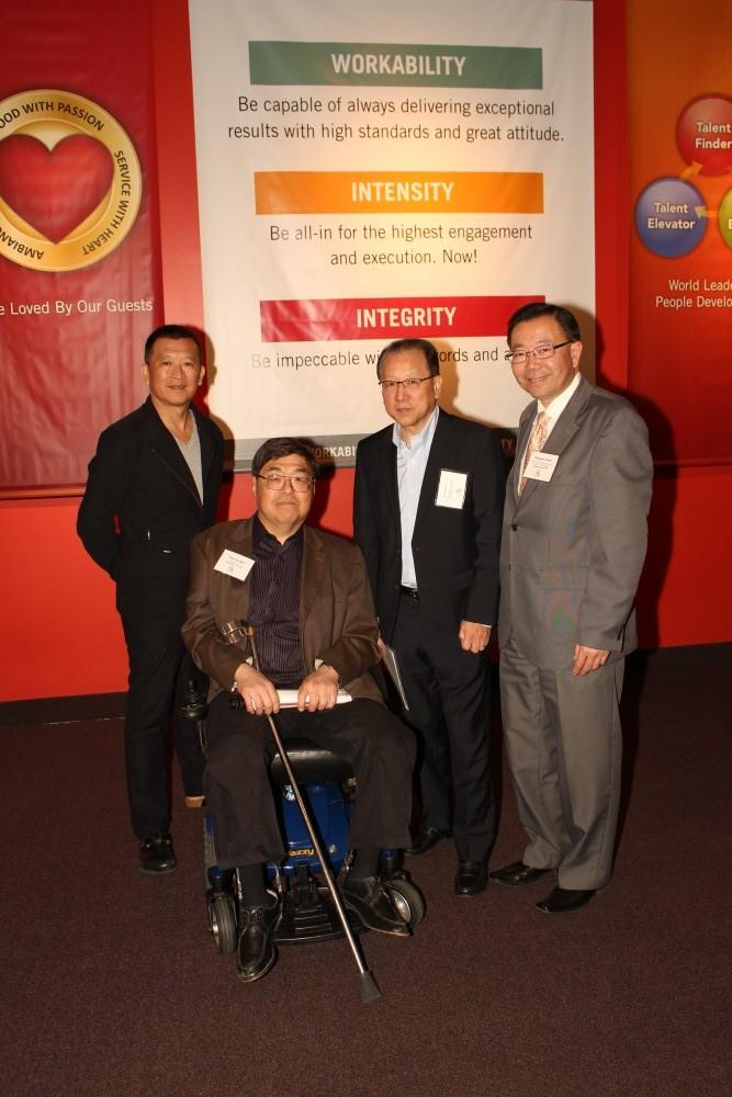 C-100 members Teddy Zee, Charlie Woo, Herman Li, Stewart Kwoh