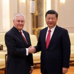 US Secretary of State Rex Tillerson with President Xi Jinping